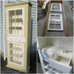 Farmhouse Window Cupboard
