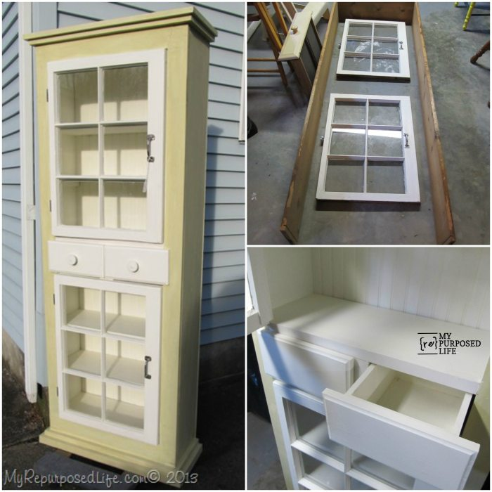 farmhouse window cupboard tutorial MyRepurposedLife