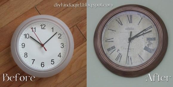 Pretty Clock Makeover