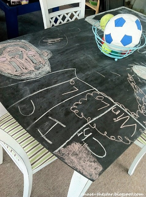 dining table chalkboard