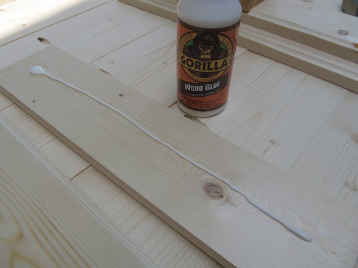 gorilla wood glue secures boards