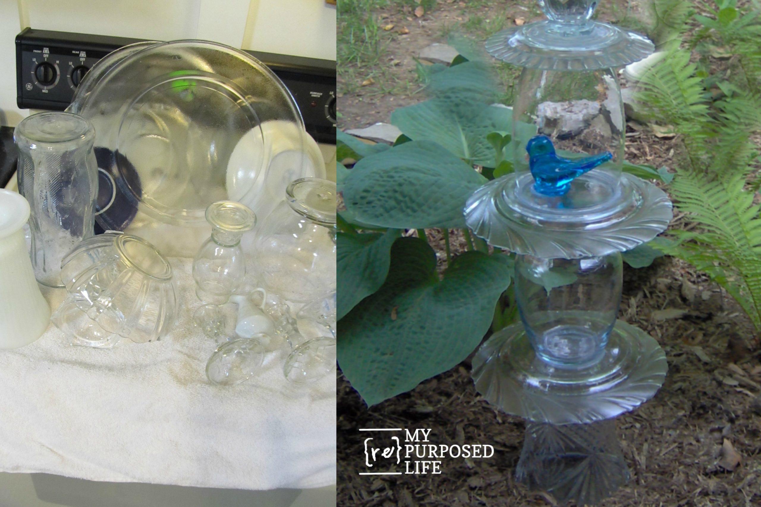 repurposed glassware totems more my