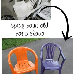 How To Paint Plastic Chairs Royal Chair Rental Spray