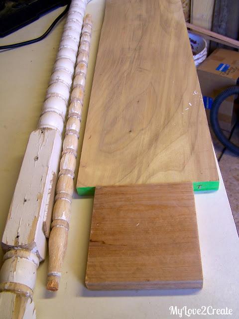 scrap wood, crib parts