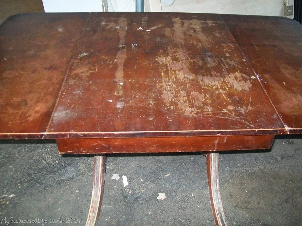 My sister gave me this table ... - Antique Table And Chairs (furniture Refinishing) - My Repurposed Life®