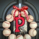 Repurposed Baseball Wreath