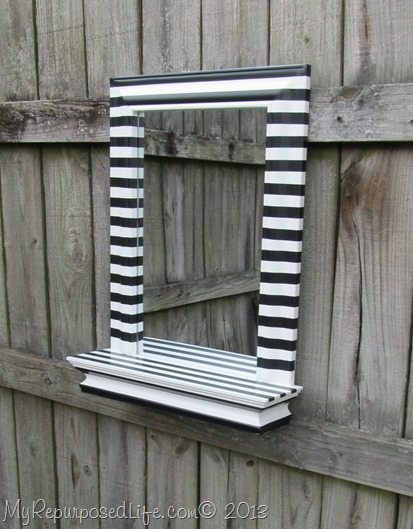 Black & White Mirror shelf