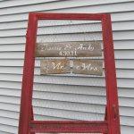 Repurposed Vintage Screen Door