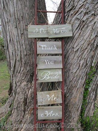 My Repurposed Life-DIY Faux Ladder