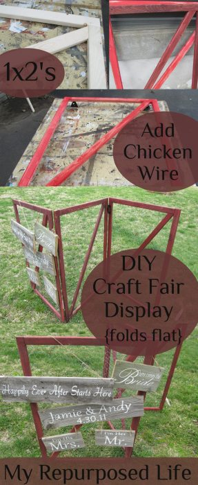 My Repurposed Life-DIY Craft Fair Display