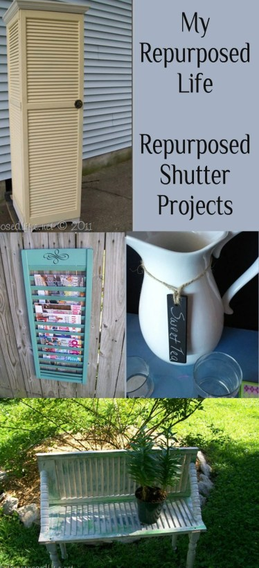 My Repurposed Life-Repurposed Shutter Projects
