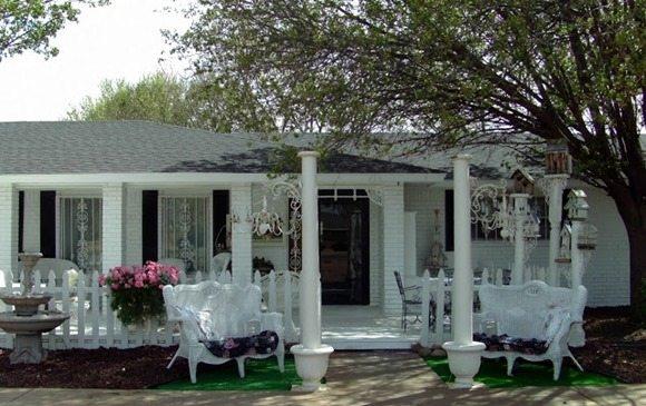 brick house painted white