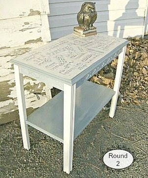 decoupaged table