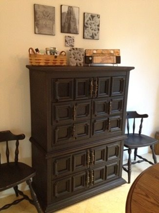plastic dresser redo with chalk paint
