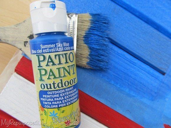 Summer Sky Blue Patio Paint