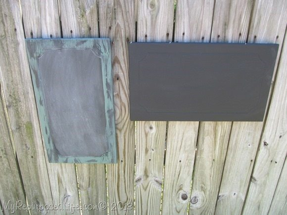 cabinet doors into chalkboards