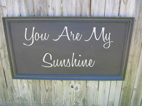 large chalkboard-You are My Sunshine