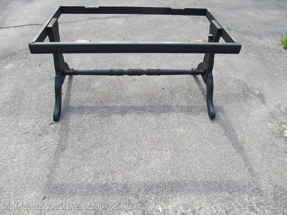 coffee table painted black hardwood flooring tabletop