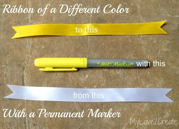 color a ribbon with a marker