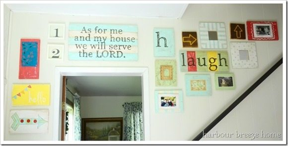 entry way gallery wall