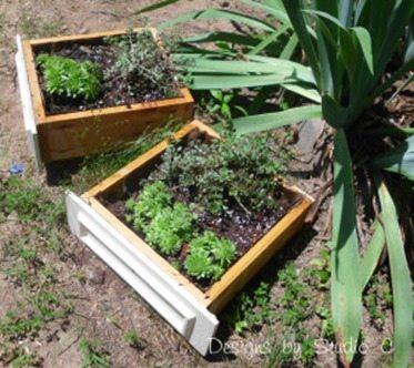 faux drawer (cedar) planters
