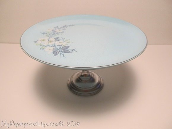 pretty plate on a candlestick