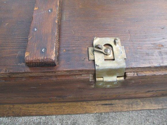 repurposed ammo box (coffee table)