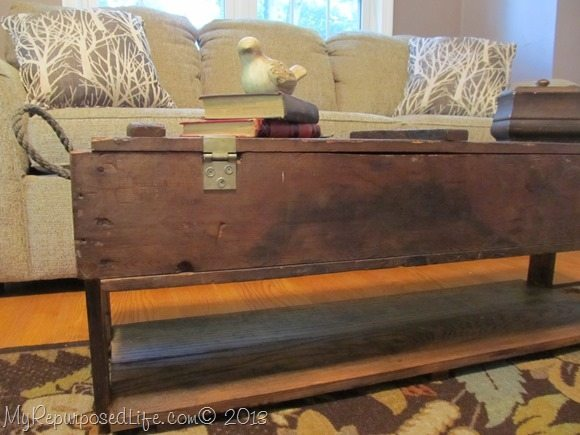 repurposed vintage ammo box