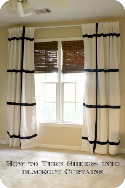 sheers into blackout curtains
