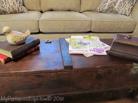 vintage ammo box table