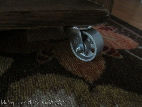 wheels on the ammo box coffee table