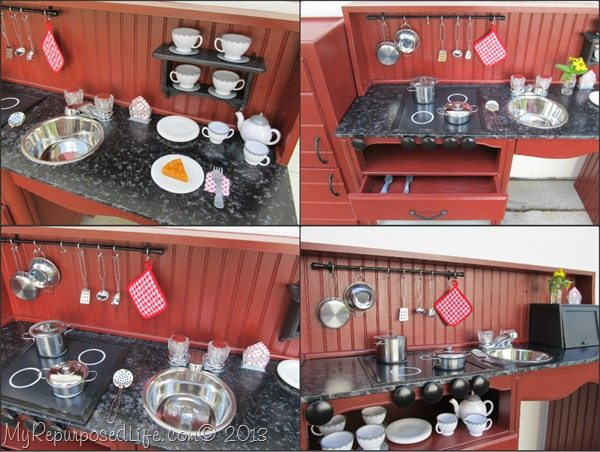My Repurposed Life-Kid's Kitchen from a Night Stand