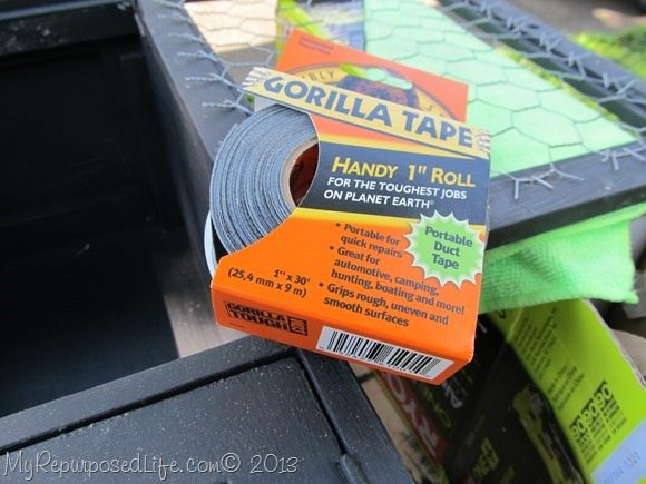 chicken wire covered with gorilla tape