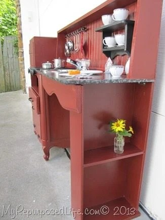 Kid S Play Kitchen Center Repurposed Items