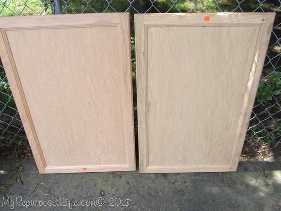 large unfinished cupboard doors