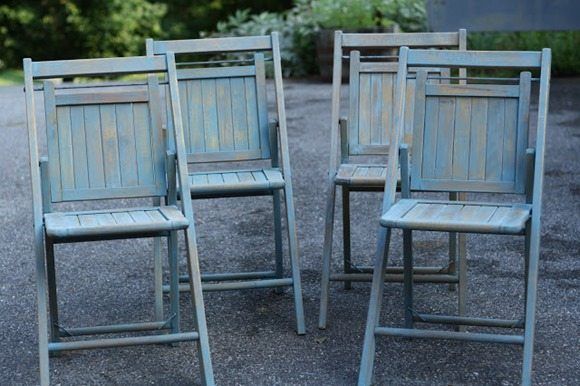 little chippy blue chairs