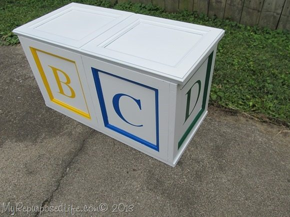 ABC blocks toy box