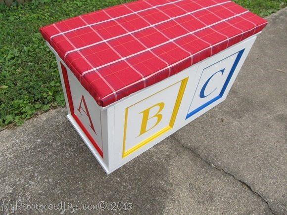 DIY Toy Box abc blocks