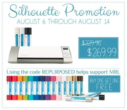 My Repurposed Life Silhouette August 6 promotion