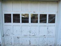 Chippy Garage door with Lead Paint - My Repurposed Life