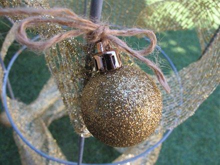 gold glitter ornament