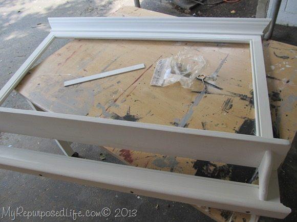making a faux mantel shelf