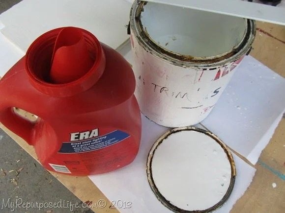 rusted paint can paint storage