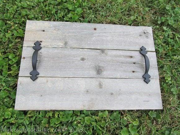 rustic tray black handles