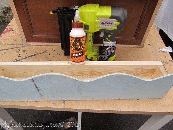 use wood glue and nail gun