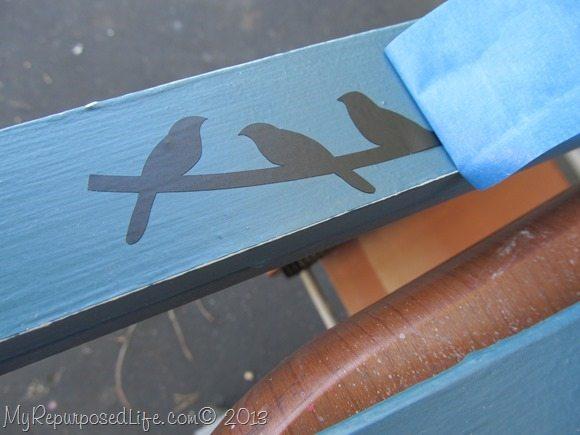 applying vinyl