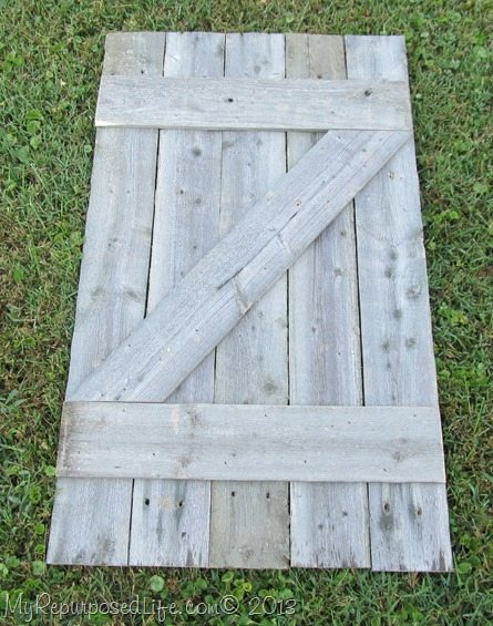 barn door mantel decor