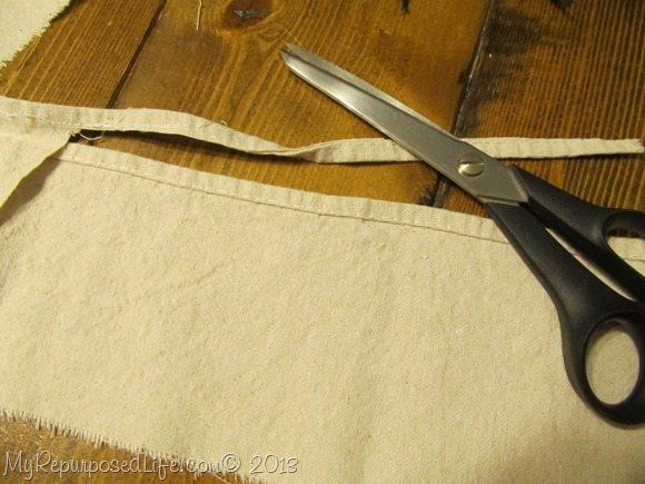 drop cloth bunting