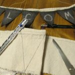 Drop Cloth no-sew Chalkboard Bunting