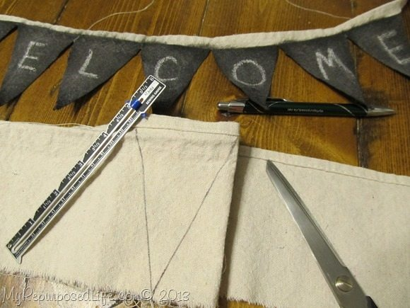 how to make a chalkboard bunting